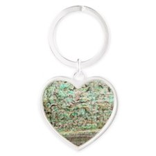 Camouflage Moving Landscape Heart Keychain