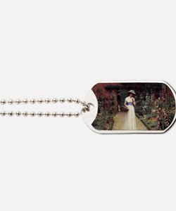 Lady in a Garden Dog Tags