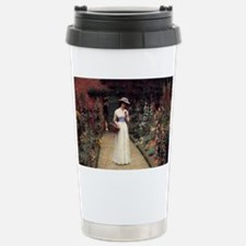 Lady in a Garden Stainless Steel Travel Mug