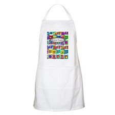 retired teacher funky squares Vertical Apron