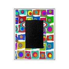 retired teacher funky squares Vertic Picture Frame