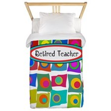 retired teacher funky squares Vertical Twin Duvet