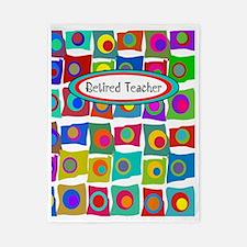 retired teacher funky squares Vertical Twin Duvet