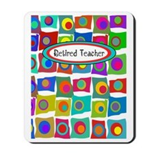 retired teacher funky squares Vertical Mousepad