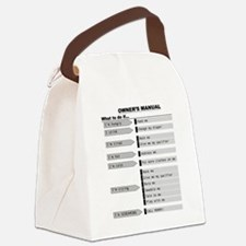 Baby Owner's Manual Canvas Lunch Bag