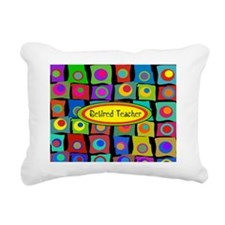 Retired Teacher Funky Sq Rectangular Canvas Pillow