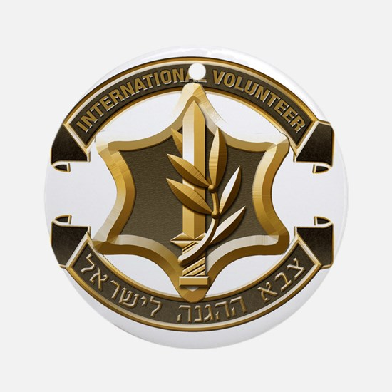 IDF International Volunteer Emblem Round Ornament
