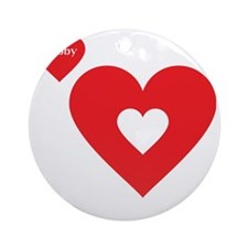 Part of my Heart Is Deployed (Hubby Round Ornament