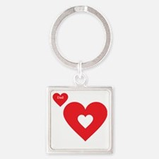 Part of my Heart Is Deployed (Dad  Square Keychain