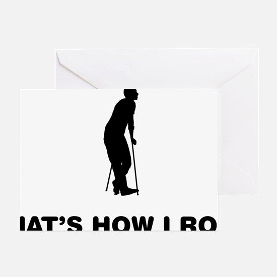 On-Crutches-12-A Greeting Card