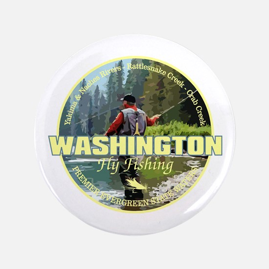 "Washington Fly Fishing 3.5"" Button"
