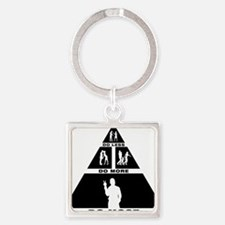 Peace-11-A Square Keychain