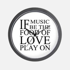 Music-Food-Love Quote Wall Clock