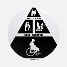 Physically-Challenged-11-A Round Ornament