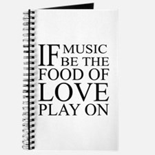 Music-Food-Love Quote Journal