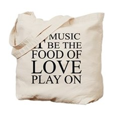 Music-Food-Love Quote Tote Bag