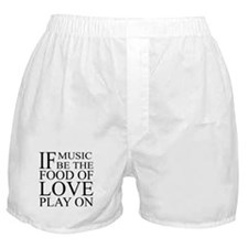 Music-Food-Love Quote Boxer Shorts