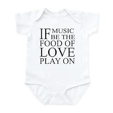 Music-Food-Love Quote Infant Bodysuit