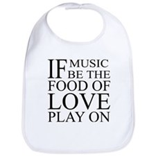 Music-Food-Love Quote Bib