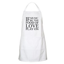 Music-Food-Love Quote BBQ Apron