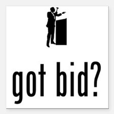 """Auctioneer-02-A Square Car Magnet 3"""" x 3"""""""