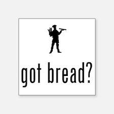 "Baker-02-A Square Sticker 3"" x 3"""