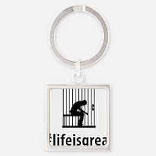 Prisoner-06-A Square Keychain