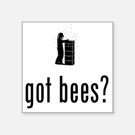 "Beekeeper-02-A Square Sticker 3"" x 3"""