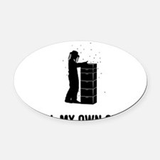 Beekeeper-03-A Oval Car Magnet