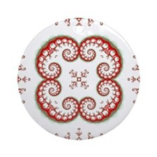 Parasite Pattern Round Ornament