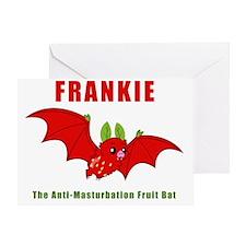 Frankie The Anti-Masturbation Fruit  Greeting Card