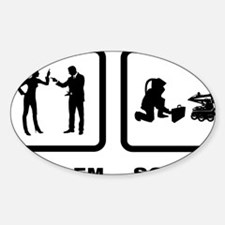 Bomb-Technician-10-A Sticker (Oval)