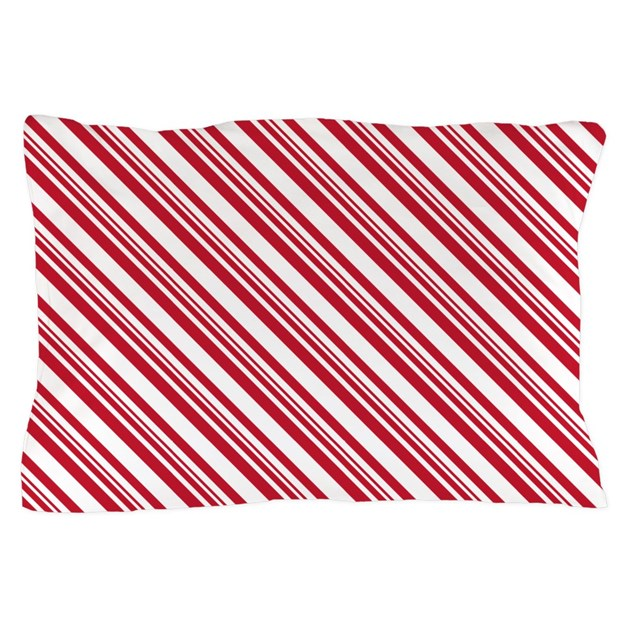 Candy Cane Stripe Pillow Case by 11thNote
