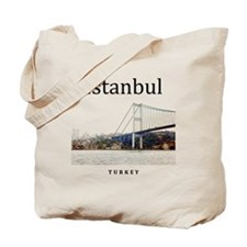 Istanbul_10x10_BosphorusBridge Tote Bag