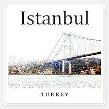 """Istanbul_10x10_Bosphorus Square Car Magnet 3"""" x 3"""""""