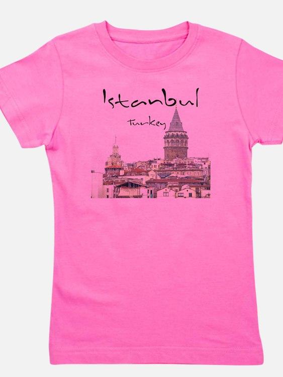 Istanbul_12X12_GalataTower Girl's Tee
