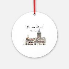 Istanbul_12X12_GalataTower Round Ornament