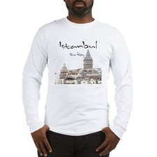 Istanbul_12X12_GalataTower Long Sleeve T-Shirt