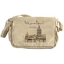 Istanbul_12X12_GalataTower Messenger Bag