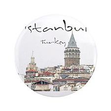 """Istanbul_12X12_GalataTower 3.5"""" Button"""