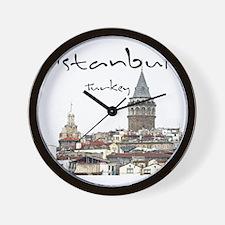 Istanbul_12X12_GalataTower Wall Clock