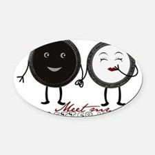 Cookie Couple Oval Car Magnet