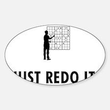 Sudoku-05-A Sticker (Oval)