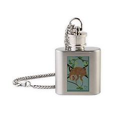 Sleepy Sloth Flask Necklace