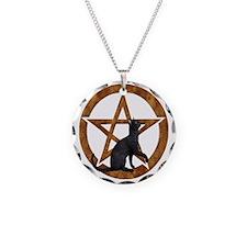 hgfhtyu Necklace Circle Charm
