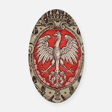 Polish Eagle 1917 1/2 Mark  Oval Car Magnet