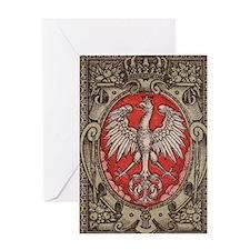 Polish Eagle 1917 1/2 Mark  Greeting Card