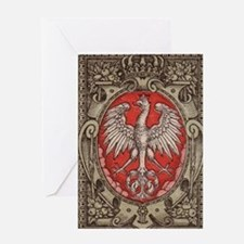Polish Eagle 1917 1/2 Mark  Greeting Card