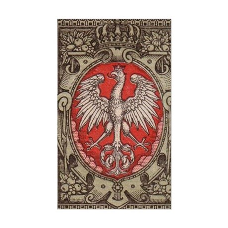 Polish Eagle 1917 1/2 Mark Sticker (Rectangle)