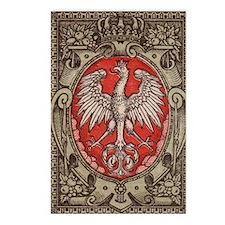 Polish Eagle 1917 1/2 Mar Postcards (Package of 8)
